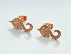 Cartier Little Fox Stud Earrings in 18K Pink Gold