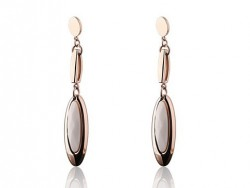 Cartier Drop Earrings in 18kt Pink Gold with White Opal