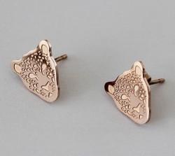 Panthere De Cartier Stud Earrings in 18kt Pink Gold