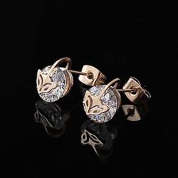 Cartier Fox Diamond Earrings in 18kt Pink Gold