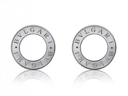 Bvlgari-Bulgari Stud Earrings in 18kt White Gold with Mother of Pearl