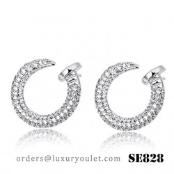 Juste un Clou Earrings in White Gold with Diamonds