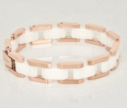 Cartier Maillon Panthere Bracelet in 18k Pink Gold With White Ceramic
