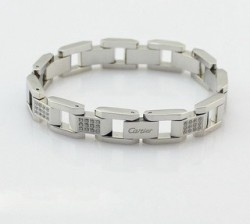 Cartier Maillon Panthere Bracelet in 18k White Gold With Diamond-Paved