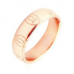 Cartier Happy Birthday Wedding Band Ring in 18kt Pink Gold