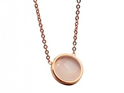 Cartier Pendant Necklace in 18K Pink Gold with Opal