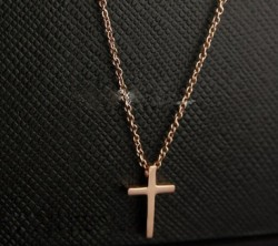 Cartier Cross Pendant Necklace in 18k Pink Gold, Small