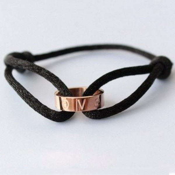 Cartier Love Cord Bracelet In 18k Pink Gold Bracelets Jewelry