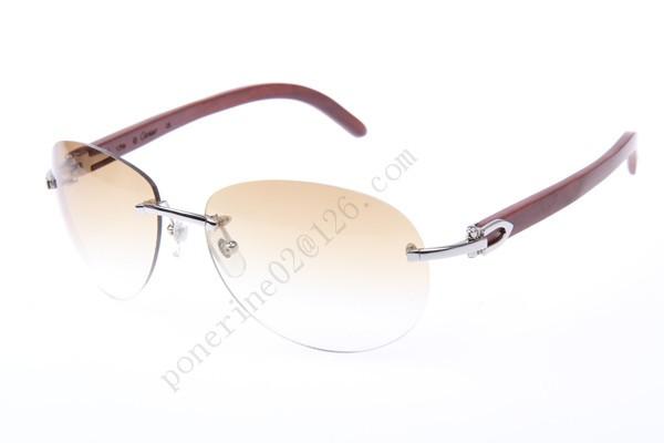 b5802845b7d 2016 Cartier 3524016 Wood Sunglasses
