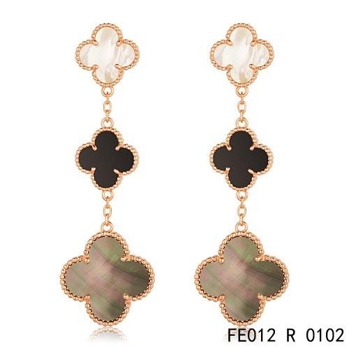 Van cleef clover earrings