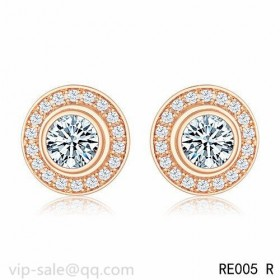 Cartier D'AMOUR Earrings in 18K pink gold with diamond