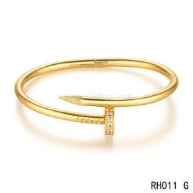 Cartier juste un clou bracelet in yellow gold with 27 brilliant-cut diamonds