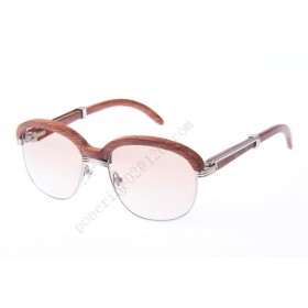 2016 Cartier 1116679 Sunglasses, Silver Brown Gradient