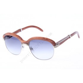 2016 Cartier 1116679 Sunglasses, Silver Grey Gradient