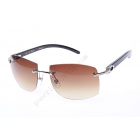2016 Cartier 4189705 Black Cattle Horn sunglasses, Silvler