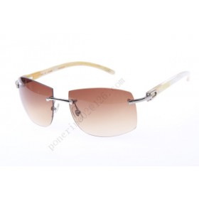 2016 Cartier 4189705 White Cattle Horn sunglasses, Silver