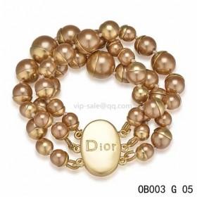 """MISE EN DIOR"" BRACELET with pink pearl"