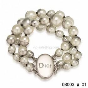 """MISE EN DIOR"" BRACELET with white pearl"