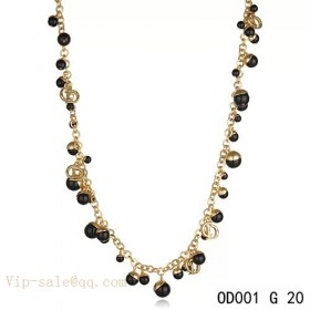 """Black Pearls """"MISE EN DIOR"""" necklace in yellow gold"""