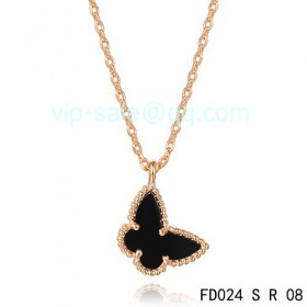 Van cleef & arpels Sweet Alhambra Butterfly Pendant/Pink Gold