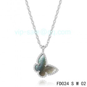 Van cleef & arpels Sweet Alhambra Butterfly Pendant/White Gold