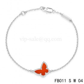 Van cleef & arpels Sweet Alhambra braceletWhite with red Butterfly