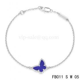 Van cleef & arpels Sweet Alhambra braceletWhite with Purple Butterfly