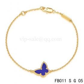 Van cleef & arpels Sweet Alhambra braceletYellow with Purple Butterfly