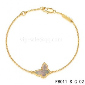 Van cleef & arpels Sweet Alhambra braceletYellow with Gray Butterfly