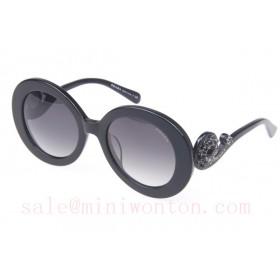 Prada SPR27QS Sunglasses In Black Gold