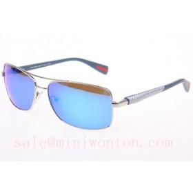 Prada SPS50OS Sunglasses In Gold Blue Lens