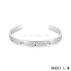 Cartier Love Open Bracelet in white gold with diamonds