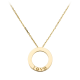 Knockoff Cartier LOVE necklace replica with 3 diamonds on yellow gold pendant