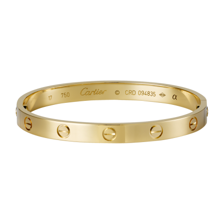 replica Cartier LOVE bracelet in yellow gold comes with screwdriver
