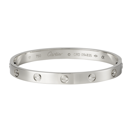Cartier Love Bracelet imitation plaqué or blanc 18K