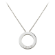 Diamond Cartier LOVE necklace fake with 3 daiamonds white gold pendant