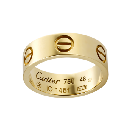 best Cartier LOVE ring replica plated with yellow gold