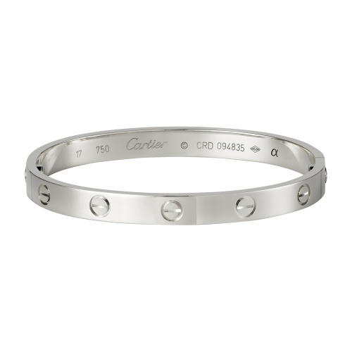 Cartier LOVE bracelet imitation plated with 18K White Gold