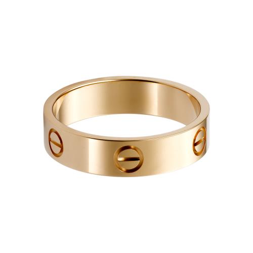 Fake Cartier Love Ring Pink Gold Free Shipping Wordwide