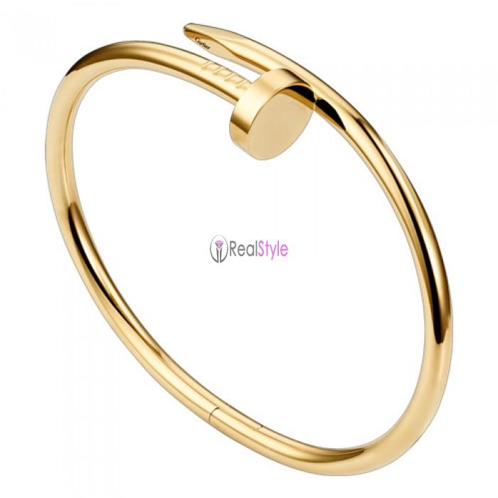 cartier juste un clou plated real 18k yellow gold bracelet B6037817 replica