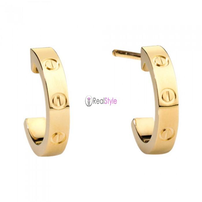 82f405af33104 cartier love yellow gold earring screw design B8028800 replica ...