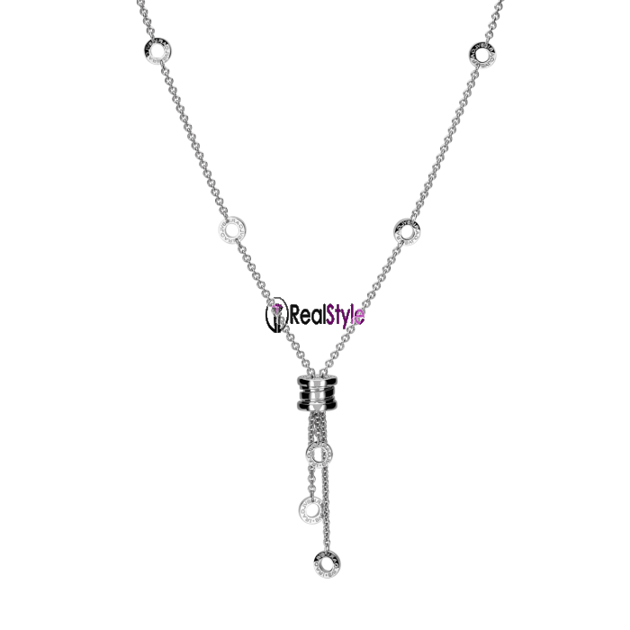 Bvlgari B.ZERO1 necklace white gold small pendant CL853896 replica