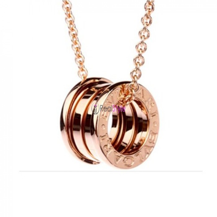 Bvlgari B.ZERO1 necklace pink gold 4 band pendant CL852407 replica