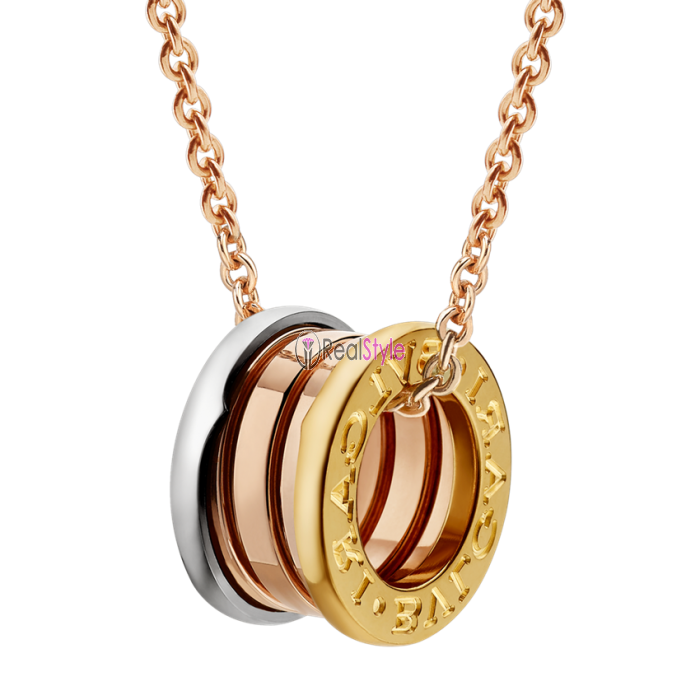 Bvlgari B.ZERO1 necklace 3-gold ring pendant CL857654 replica