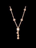 Bvlgari B.ZERO1 necklace pink gold white ceramic pendant CL856019 replica