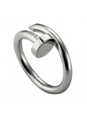 cartier juste un clou ring plated real white gold B4099200 replica