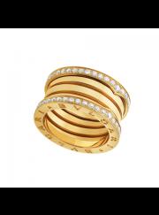 Bvlgari B.ZERO1 ring yellow gold 4 band paved with diamonds AN857024 replica