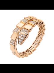Bvlgari Serpenti Bracelet pink gold Single helix with diamonds BR855312 replica