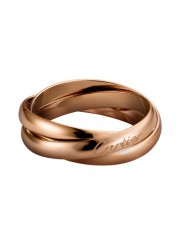 trinity de Cartier pink gold ring titanium steel small models B4218800 replica