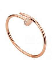 cartier juste un clou bracelet plated real pink gold set with diamonds replica